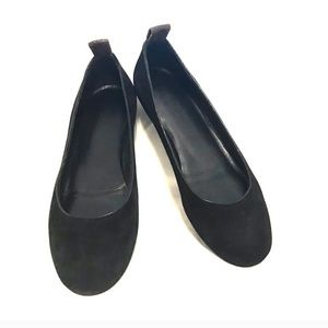 Louis Vuitton Black Suede Ballerina Flats